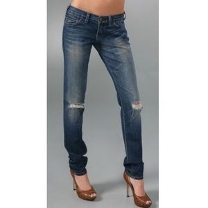 CURRENT/ELLIOTT Easy Love Skinny Jeans in Destroy